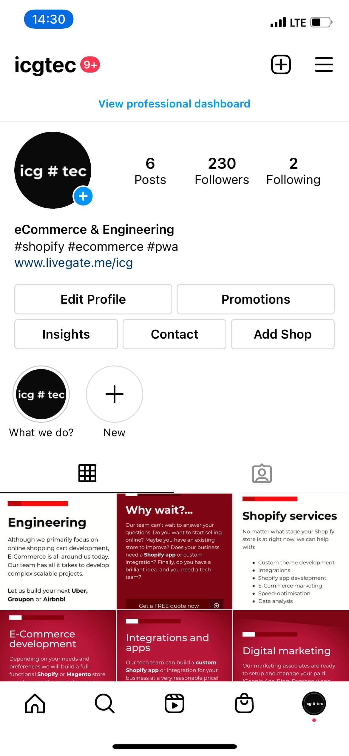 Livegate - Share link code
